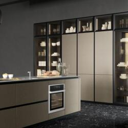 Argyrou Kitchens Design Collection Aluminum Frame Glass
