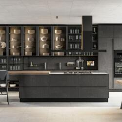 Argyrou Kitchens Design Collection Graphite Gres Mutina And Aluminum Bronze Glass